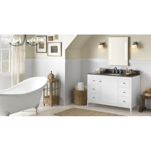 "Ronbow Briella 48"" Wood Cabinet Vanity Base"