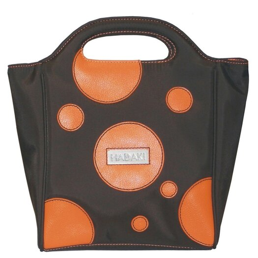 Hadaki Nylon Insulated Lunch Pod in Bubbles Orange
