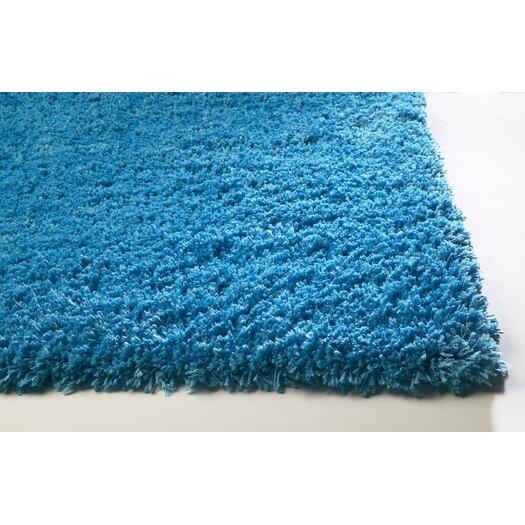 KAS Rugs Bliss Highlighter Blue Area Rug