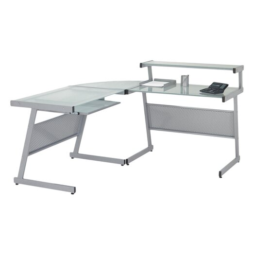 Eurostyle L Computer Desk with Keyboard Tray