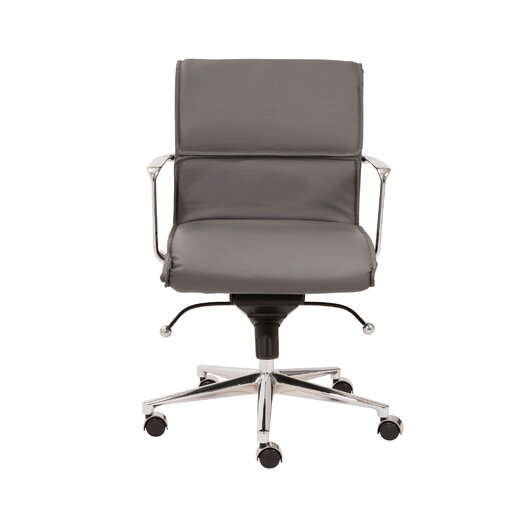 Eurostyle Leif Low-Back Leatherette Office Chair with Arms