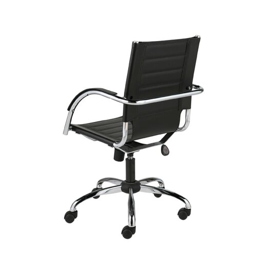 Eurostyle Dave Mid-Back Leather Office Chair with Arms