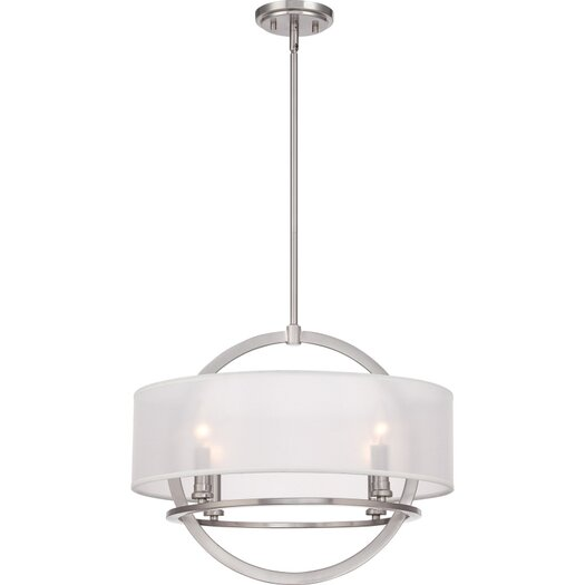 Quoizel Portland 4 Light Drum Pendant