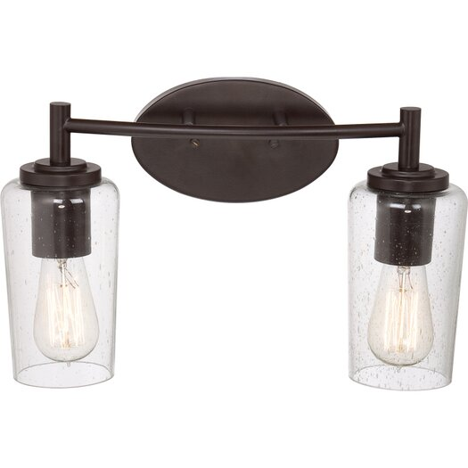 Quoizel Edison 2 Light Bath Vanity Light