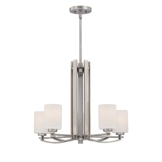 Quoizel Taylor Five Light Chandelier in Antique Nickel