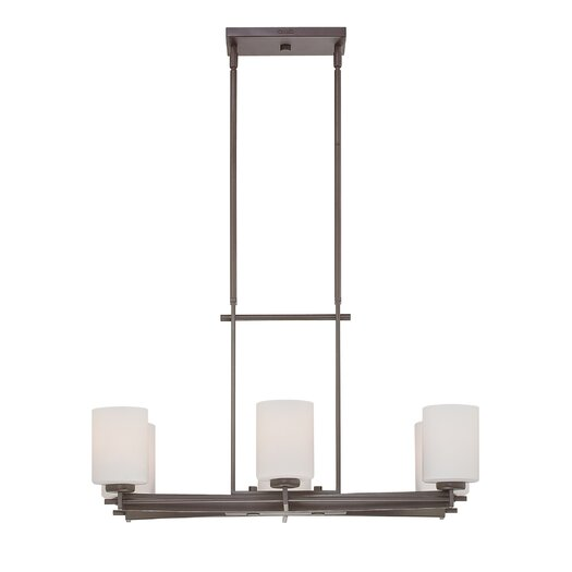 Quoizel Taylor Six Light Kitchen Island Light in Western Bronze
