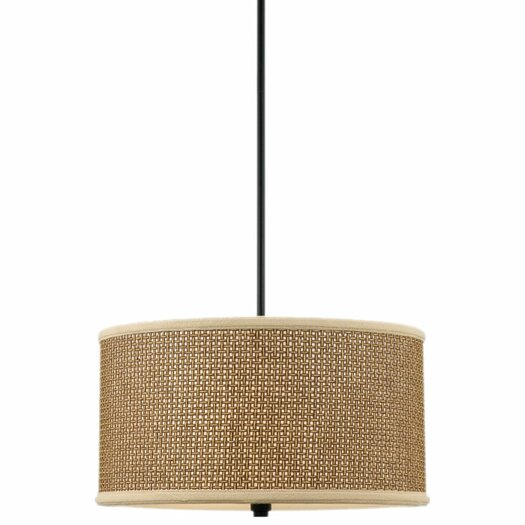 Quoizel Zen 3 Light UpLight Drum Pendant
