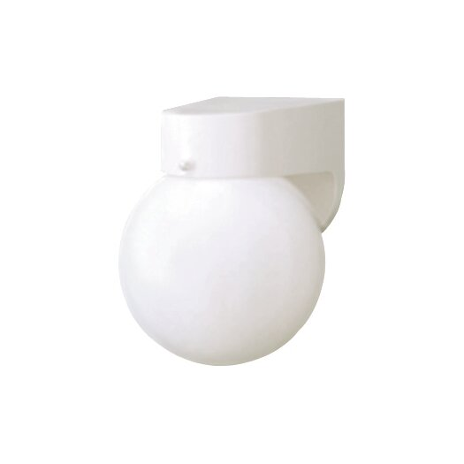 Thomas Lighting Plastic Outdoor Globe 1 Light Wall Sconce