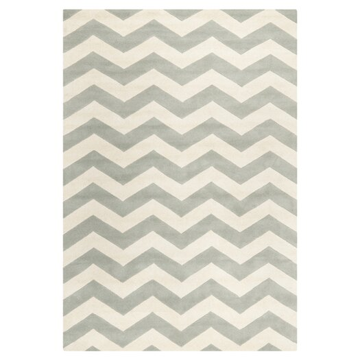 Safavieh Chatham Chevron Grey & Ivory Area Rug