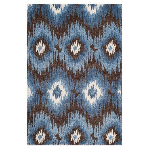 Safavieh Retro Dark Brown / Blue Rug