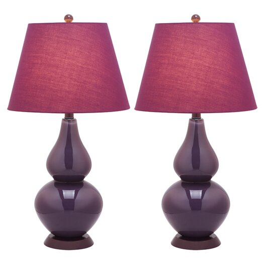 Safavieh Mofford Double Gourd Table Lamp with Empire Shade