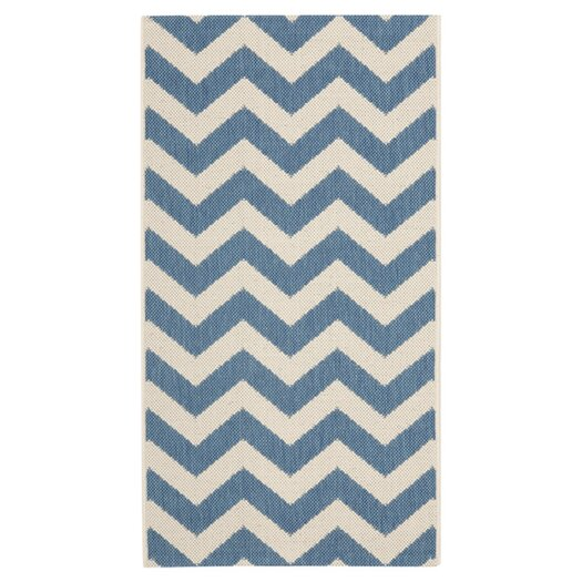 Safavieh Courtyard Blue & Beige Rug