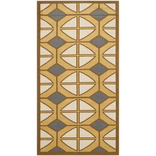 Safavieh Hampton Ivory Geometric Outdoor Area Rug