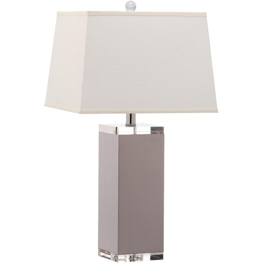 "Safavieh Deco Leather 25.5"" H Table Lamp with Rectangular Shade"