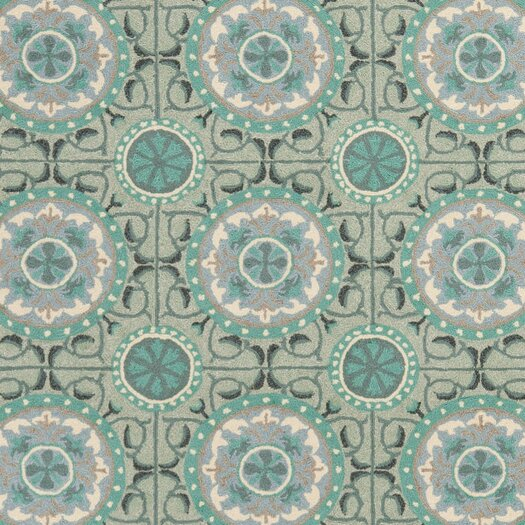 Safavieh Four Seasons Mint & Aqua Outdoor Area Rug