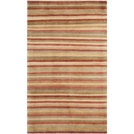 Safavieh Tibetan Rust Stripes Area Rug