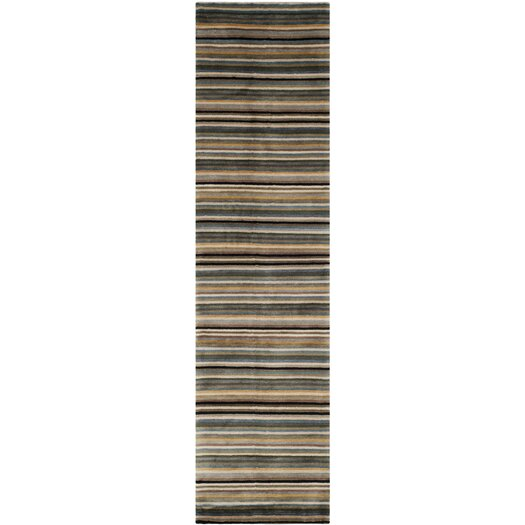 Safavieh Tibetan Black/Blue Stripes Area Rug