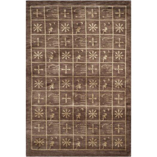 Safavieh Tibetan Plum Pictogram Brown Area Rug