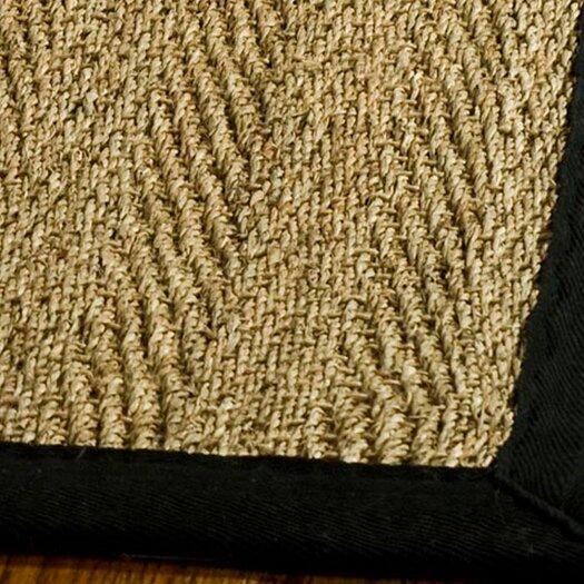 Safavieh Natural Fiber Natural/Black Area Rug