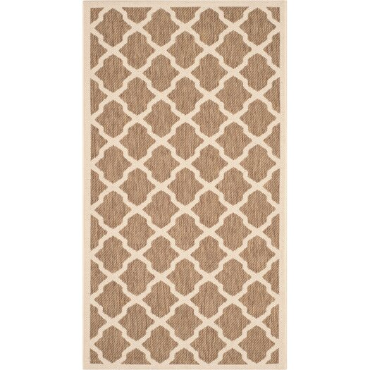 Safavieh Courtyard Brown/Bone Outdoor/Indoor Area Rug