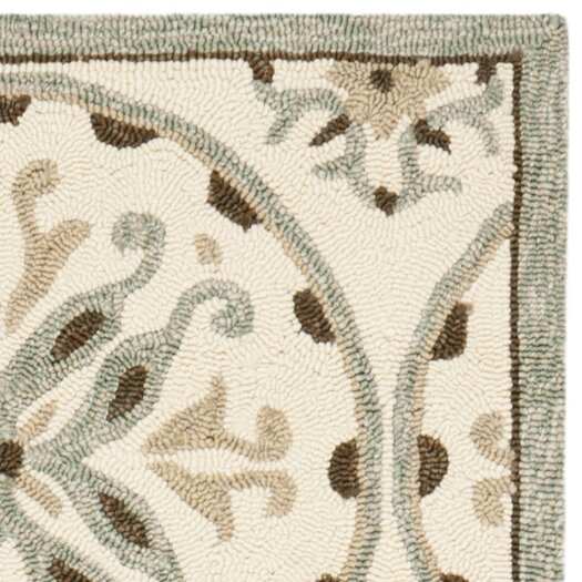 Safavieh Four Seasons Ivory/Brown Outdoor Area Rug