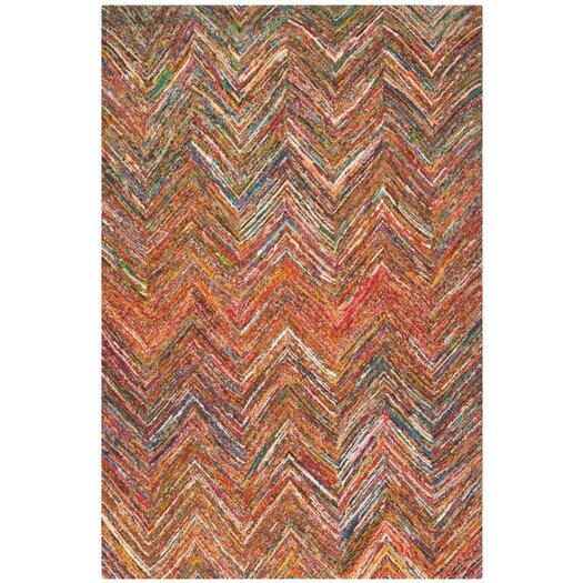 Safavieh Nantucket Multi-Colored Chevron Area Rug