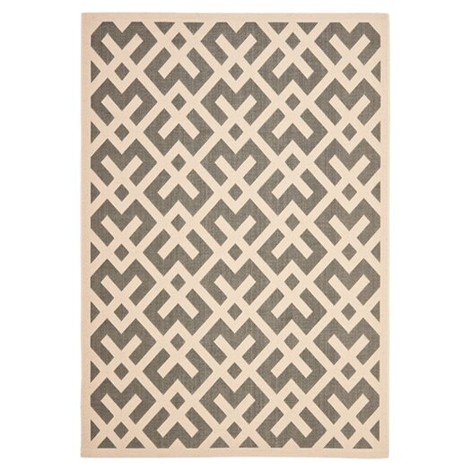 Safavieh Courtyard Grey & Bone Indoor/Outdoor Area Rug