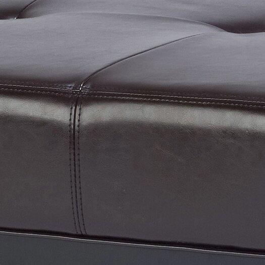 Safavieh Fulton Leather Ottoman