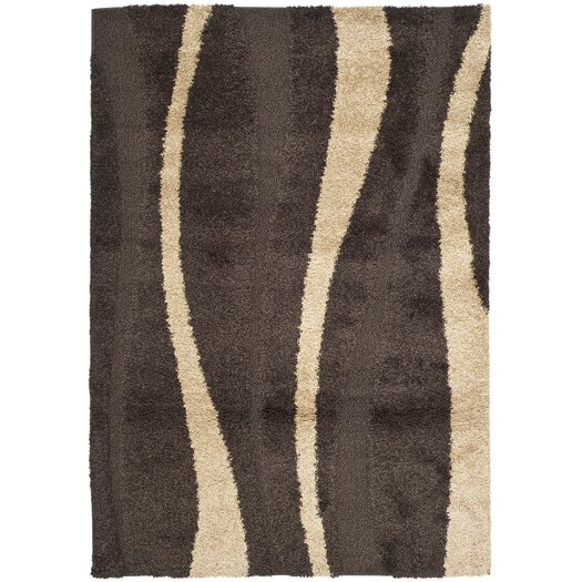 Safavieh Florida Shag Dark Brown/Beige Area Rug