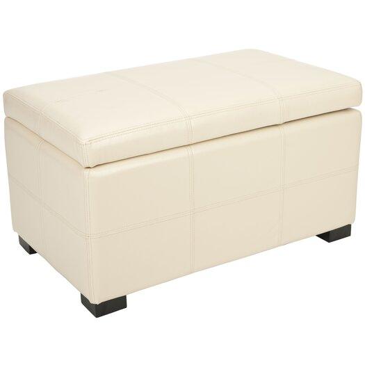 Safavieh Lucas Leather Bedroom Storage Ottoman