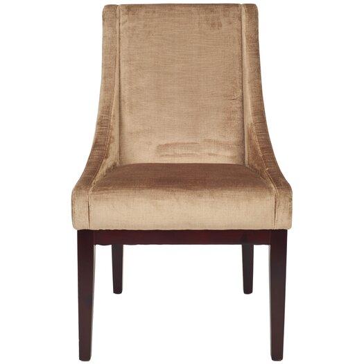 Safavieh Dark Velvet Wing Chair