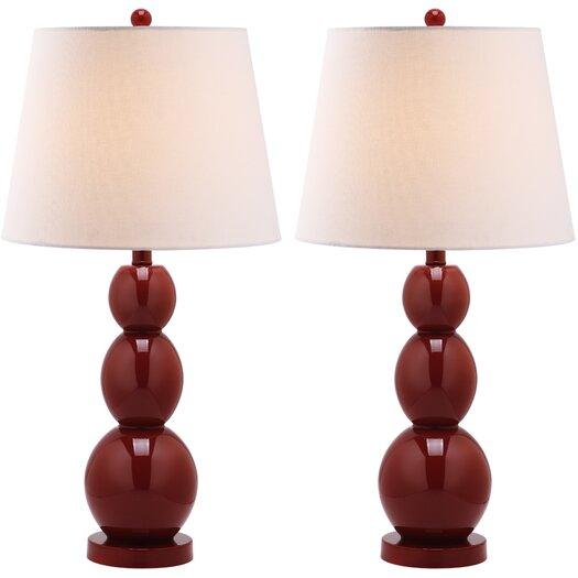 Safavieh Longview Three Sphere Table Lamp with Drum Shade