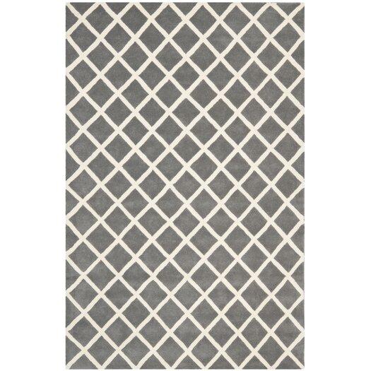 Safavieh Chatham Cross Dark Grey & Ivory Area Rug