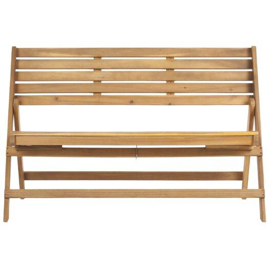 Safavieh Luca Wood Garden Bench