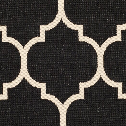 Safavieh Courtyard Black & Beige Area Rug II