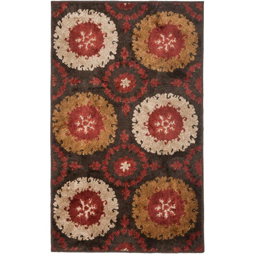 Safavieh Kashmir Brown / Red Rug