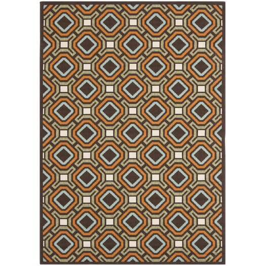 Safavieh Veranda Chocolate / Terracotta Outdoor Rug