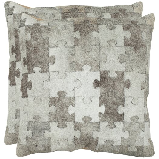 Safavieh Mason Cowhide / Suede Backing Decorative Pillow