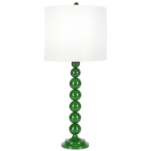 """Safavieh Stacked Ball 31"""" H Table Lamp with Drum Shade"""