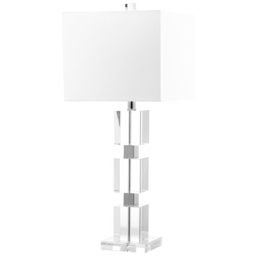 """Safavieh Ice Palace Cube 28"""" H Table Lamp with Square Shade"""