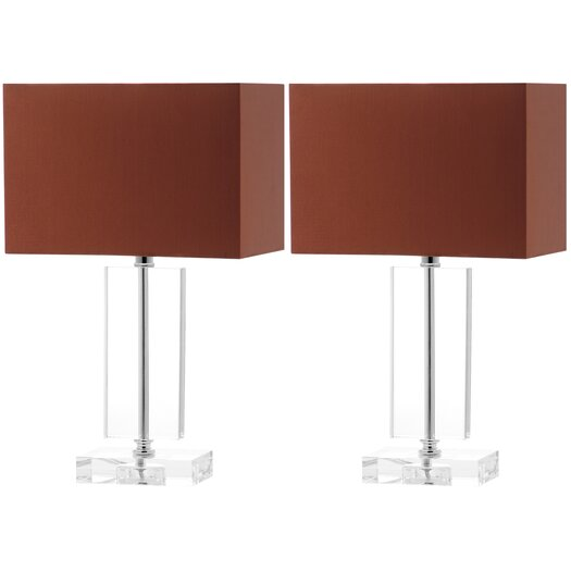 "Safavieh Art Moderne 15.75"" H Table Lamp with Rectangular Shade"