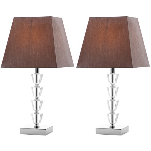 """Safavieh Avalon Deco 17.25"""" H Table Lamp with Square Shade"""