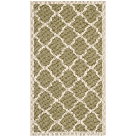 Safavieh Courtyard Green/Beige Outdoor Area Rug