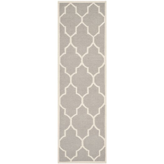 Safavieh Dhurries Dark Grey/Ivory Area Rug