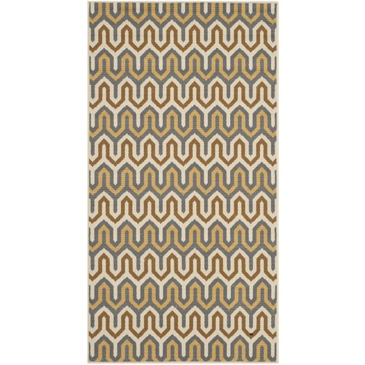 Safavieh Hampton Brown/Camel Chevron Outdoor Area Rug