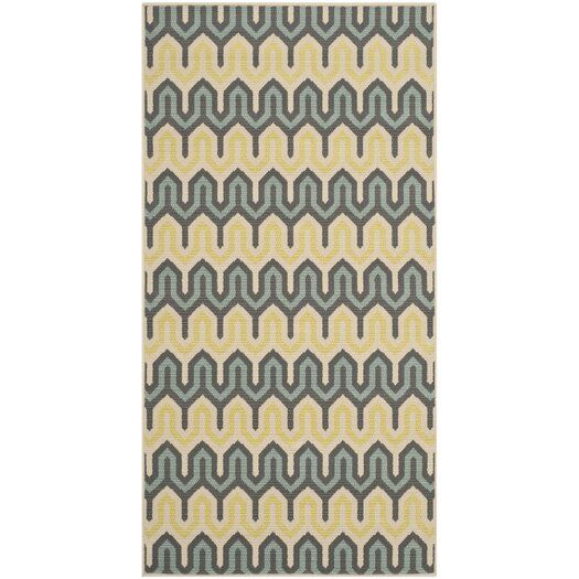 Safavieh Hampton Green/Light Blue Outdoor Area Rug