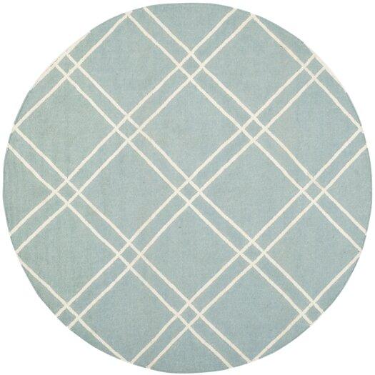 Safavieh Dhurries Light Blue/Ivory Area Rug