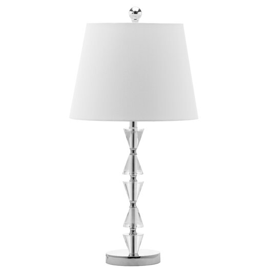 """Safavieh Deco Prisms 21"""" H Table Lamp with Empire Shade"""