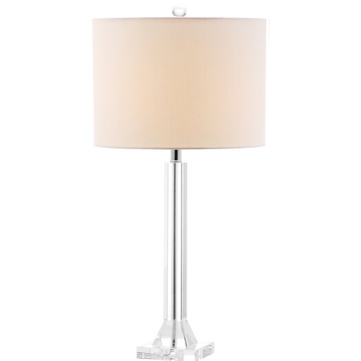 "Safavieh Tyrone Column 27"" H Table Lamp with Drum Shade"