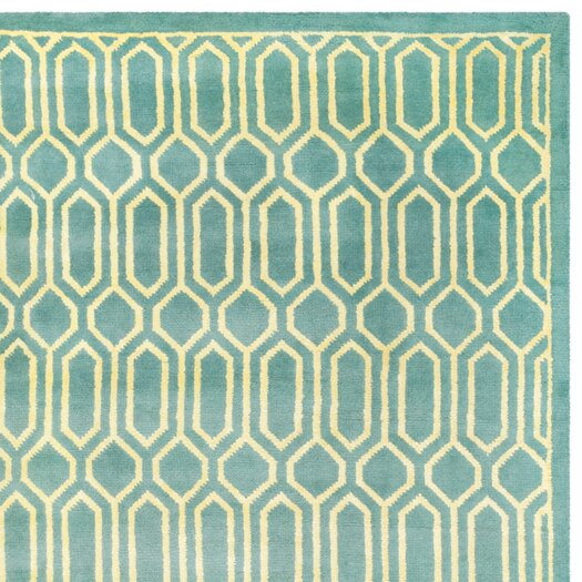Safavieh Mosaic Aqua / Light Gold Rug